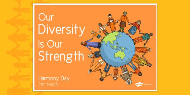 Australia Harmony Day with Alternative Earth Poster - australia, harmony day, earth, acceptance, culture, diversity