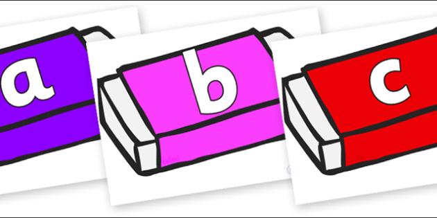 Phoneme Set on Erasers - Phoneme set, phonemes, phoneme, Letters and Sounds, DfES, display, Phase 1, Phase 2, Phase 3, Phase 5, Foundation, Literacy