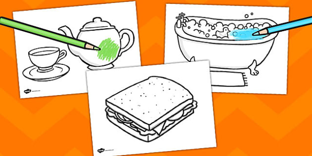 The Tiger Who Came to Tea Story Colouring Sheet - tiger, colouring, fine motor skills, poster, worksheet, vines, A4, display, tea, the tiger who came to tea, play, Judith Kerr, girl, story book