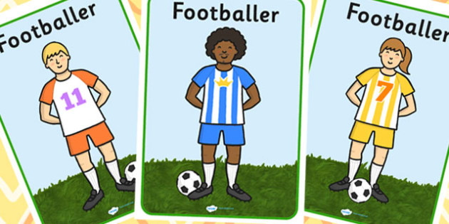 Footballers A4 Display Posters - Footballer, footballers, football display, world cup, soccer, world cup display, football, sport, Display, Posters, Freize