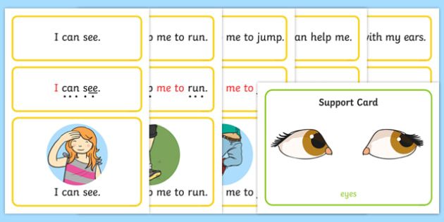 All About Me Simple Sentence Cards
