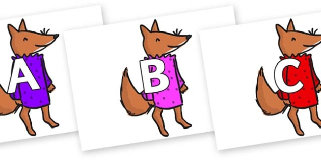 A-Z Alphabet on Small Fox 3 to Support Teaching on Fantastic Mr Fox - A-Z, A4, display, Alphabet frieze, Display letters, Letter posters, A-Z letters, Alphabet flashcards
