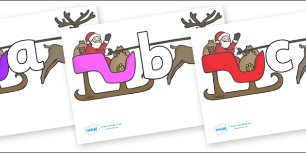 Phoneme Set on Sleighs - Phoneme set, phonemes, phoneme, Letters and Sounds, DfES, display, Phase 1, Phase 2, Phase 3, Phase 5, Foundation, Literacy
