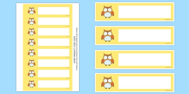 Cute Owl Themed Gratnells Tray Labels - cute owl, gratnells, tray labels, tray, labels, display