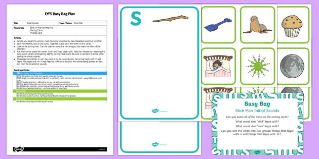 EYFS Initial Sounds Busy Bag Plan and Resource Pack