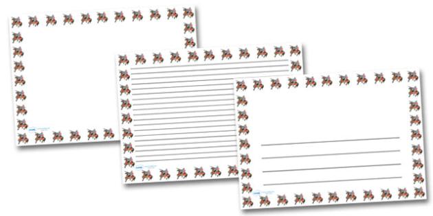 Knight On Horse Landscape Page Borders- Landscape Page Borders - Page border, border, writing template, writing aid, writing frame, a4 border, template, templates, landscape