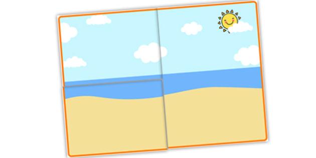 Self Registration Background (Seaside) - Self registration, background, Sea, seaside, display, editable, label, topic, water, tide, waves, sand, beach, sea, sun, holiday, coast