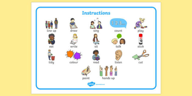 New EAL Starter Instructions Word Mat - literacy, words, mats