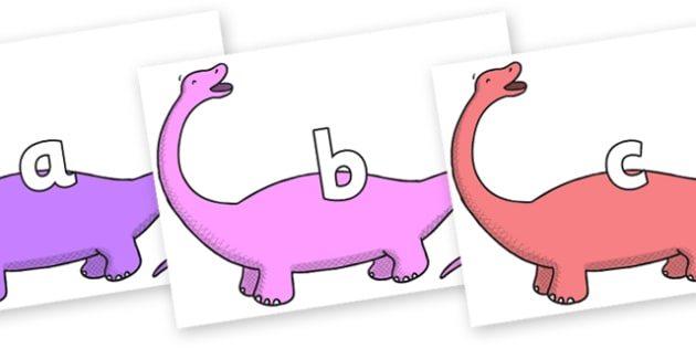 Phase 2 Phonemes on Apatosaurus to Support Teaching on Harry and the Bucketful of Dinosaurs - Phonemes, phoneme, Phase 2, Phase two, Foundation, Literacy, Letters and Sounds, DfES, display