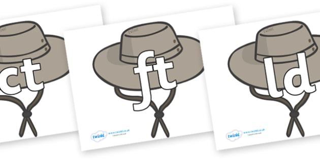 Final Letter Blends on Cowboy Hats - Final Letters, final letter, letter blend, letter blends, consonant, consonants, digraph, trigraph, literacy, alphabet, letters, foundation stage literacy