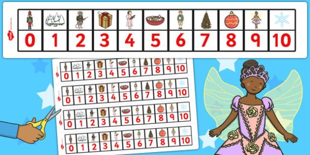 The Nutcracker Number Track 0-10 - nutcracker, number track, 0-10