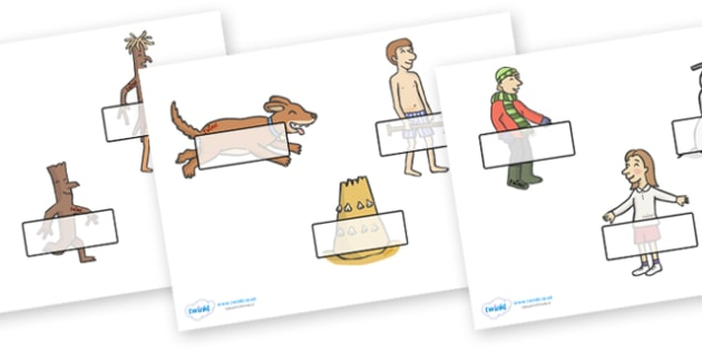 Self Registration to Support Teaching on Stick Man - Stick Man, Julia  Donaldson, resources, family tree, Stick Lady Love, Christmas, Father Christmas, story, story book, story book resources, story sequencing, story resources, self registration, reg