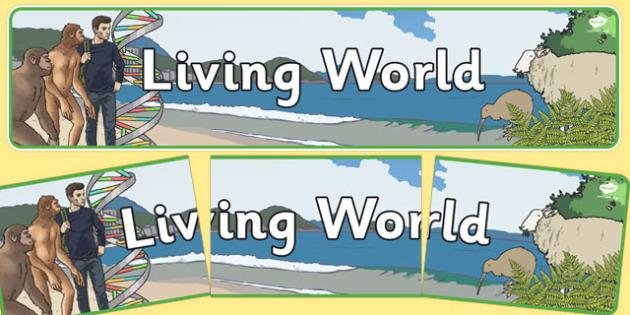 Living World Display Banner NZ - nz, new zealand, living world, display banner, display