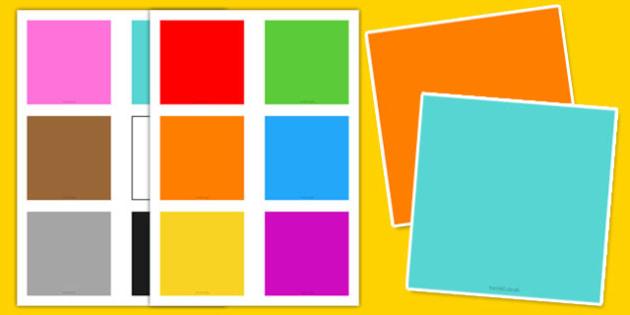 Blank Colour Flashcards - blank, colour, flashcards, flash cards