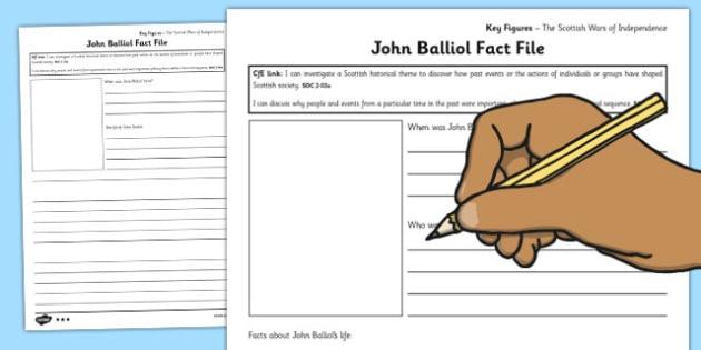 John Balliol Key Figures Differentiated Fact File Templates