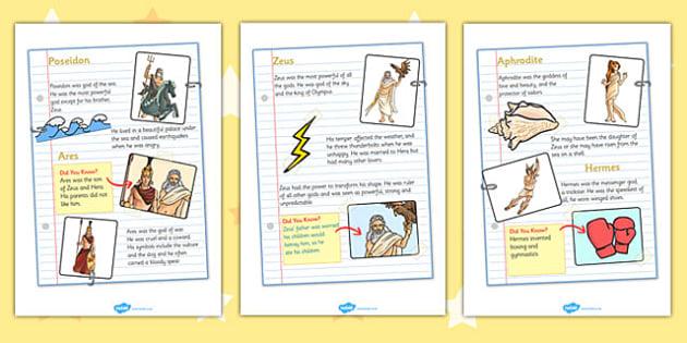Greek God Fact File - greek gods, greek god factfiles, greek god fact sheets, greek god fact posters, greeks, ancient greece, greek facts, ks2 history