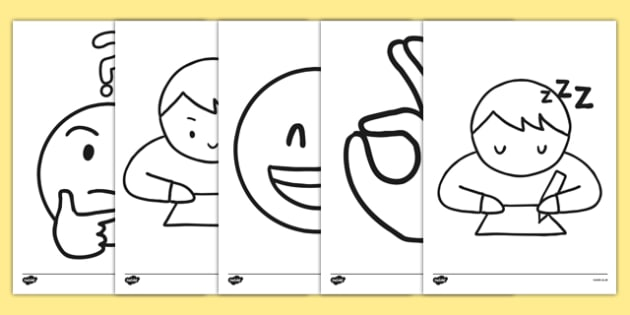 Emojis Colouring Pages