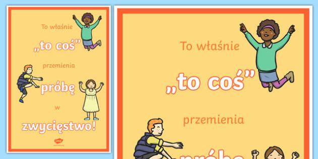 Plakat motywacyjny Zwycięstwo po polsku