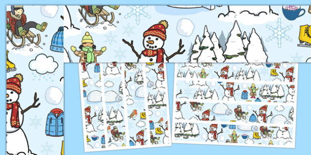Winter Themed Display Border - winter, display border, display, borders