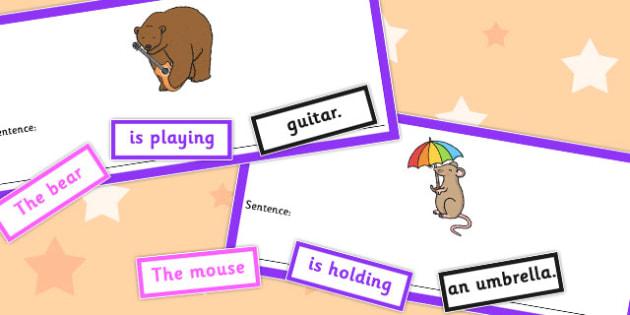 SVO Unusual Sentence Cut Up Cards - sentence, cut up, cards, svo