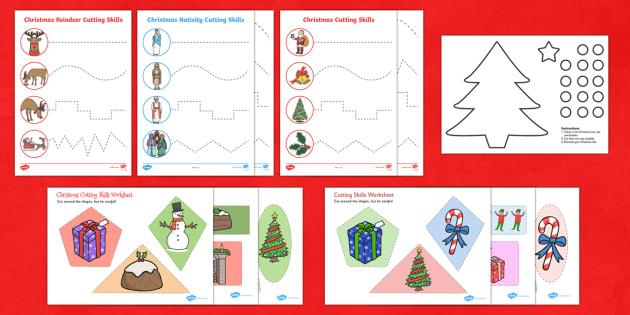 Christmas Cutting Skills  Activity Pack