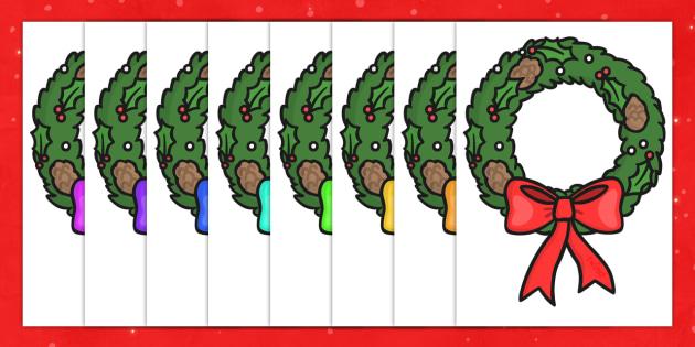 Christmas A4 Wreath Editable  - christmas, wreath, editable