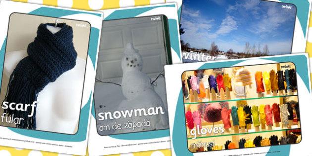 Winter Display Photos EAL Romanian Translation - romanian, winter