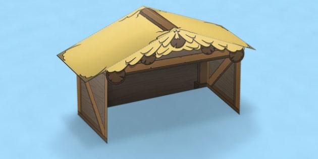 Nativity Paper Model Stable - nativity, paper, model, stable