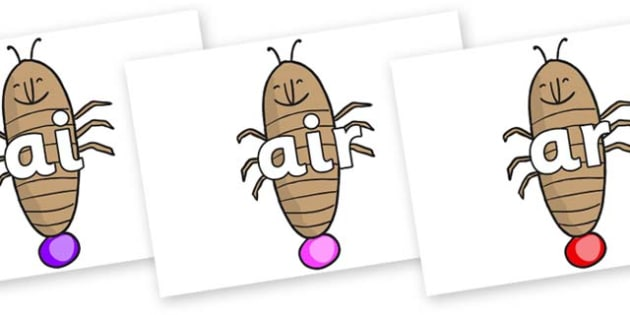 Phase 3 Phonemes on Glowworm to Support Teaching on James and the Giant Peach - Phonemes, phoneme, Phase 3, Phase three, Foundation, Literacy, Letters and Sounds, DfES, display