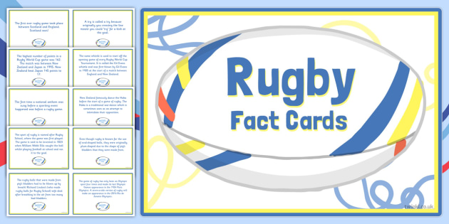 Amazing Rugby Display Fact Cards - rugby, display, fact