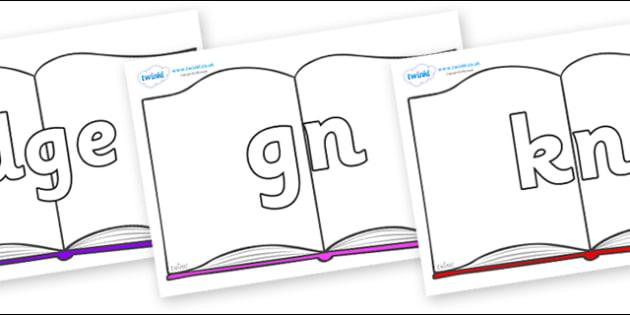 Silent Letters on Books - Silent Letters, silent letter, letter blend, consonant, consonants, digraph, trigraph, A-Z letters, literacy, alphabet, letters, alternative sounds