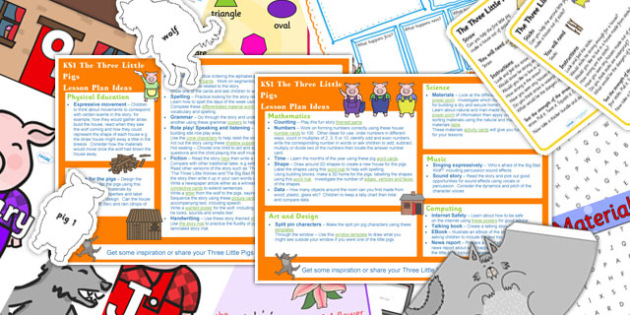 The Three Little Pigs KS1 Lesson Plan Ideas and Resource Pack
