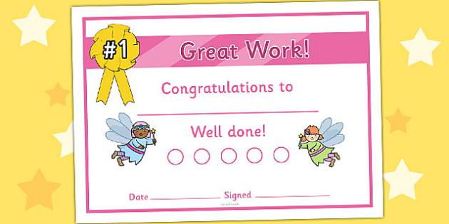 Fairy Sticker Reward Certificates (15mm) - Fairy Reward Certificate (15mm), Fairy, reward certificate, certificate, reward, 15mm, 15 mm, stickers, twinkl stickers, award, certificate, well done, behaviour management, behaviour, fairies, fantasy, wand