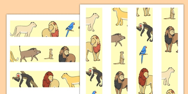 Lion Story Themed Display Borders - lion story, story, lion, display borders, display, borders