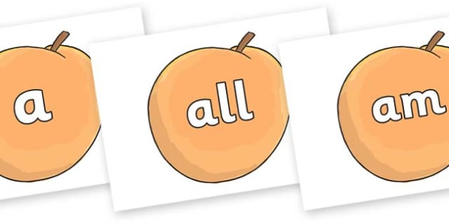 Foundation Stage 2 Keywords on Giant Peach to Support Teaching on James and the Giant Peach - FS2, CLL, keywords, Communication language and literacy,  Display, Key words, high frequency words, foundation stage literacy, DfES Letters and Sounds, Lett