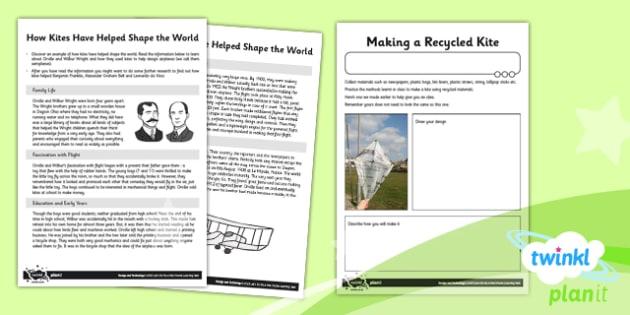 PlanIt - DT LKS2 - Let's Go Fly a Kite Unit Home Learning Tasks