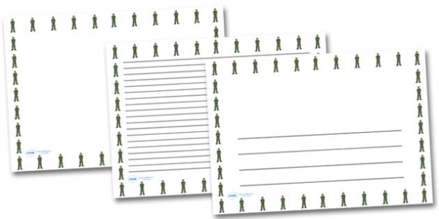 Male Paramedic Landscape Page Borders- Landscape Page Borders - Page border, border, writing template, writing aid, writing frame, a4 border, template, templates, landscape