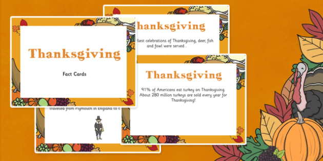 Amazing Thanksgiving Display Fact Cards - thanksgiving, facts
