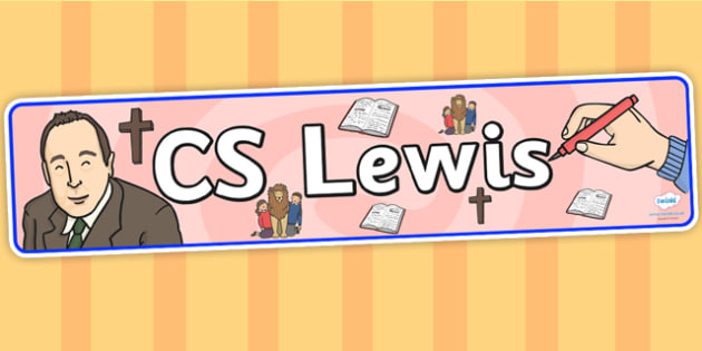 CS Lewis Display Banner - CS Lewis, display, banner, display banner, display header, themed banner, classroom banner, banner display, header, display