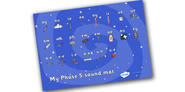 Space Themed Phase 5 Sound Mat - sound mat, sound, mat, sounds, space, outer space, in space, moon, sun, stars, space themed, space theme, space phase 5, phase 5, phases, phase five, letters and sounds, pronunciation, literacy