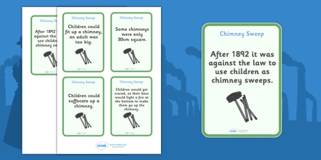 The Victorians Chimney Sweeps Flash Cards - Victorians, Queen Victoria, chimney sweeps, children, chimney, 19th century, British History, Britain, Victorian toys, Victorian school, butler