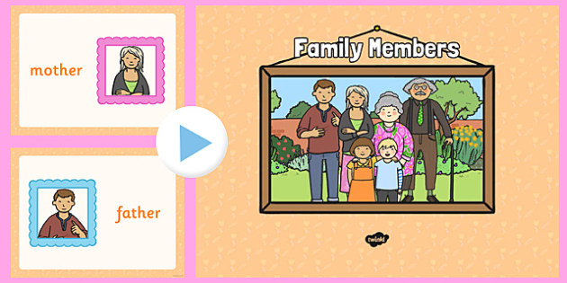 French Family Members PowerPoint - visual, display, families