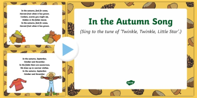 In the Autumn Song PowerPoint