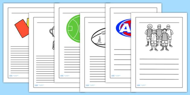 AFL Australian Football League Handwriting Lines - writing aid