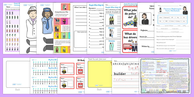 KS1 People Who Help Us Lesson Plan Ideas and Resource Pack