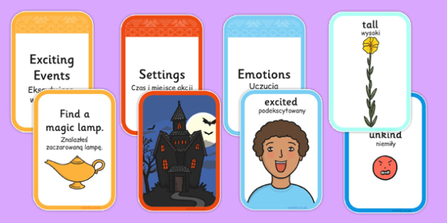 Story Writing Prompt Cards Pack Polish Translation - polish, story writing, prompts, activity, pack, creative writing, story planning, plot planner, plot, cards, ks1, ks2, adventure, stories, fiction, narrative, storytelling, oral, sequence, plan, wr
