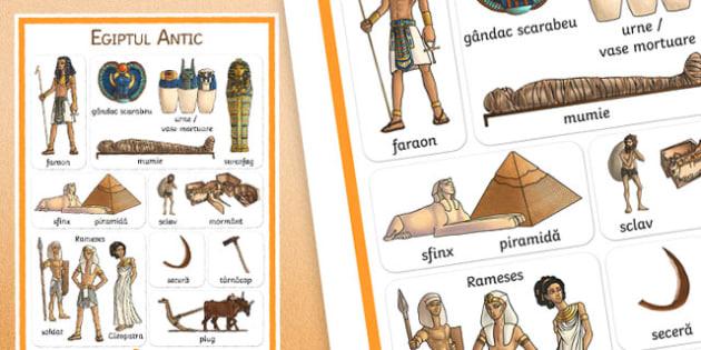 Egiptul Antic - Poster cu vocabular