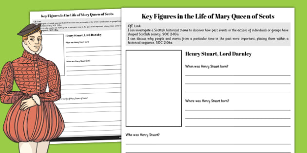 Henry Stuart - Mary Queen of Scots Key Figures Fact File - fact file, scotland