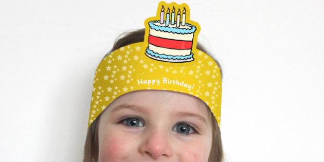Happy Birthday Headbands - birthdays, awards, rewards, party