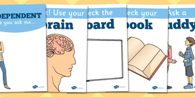 Be Independent Display Posters - displays, posters, motivation